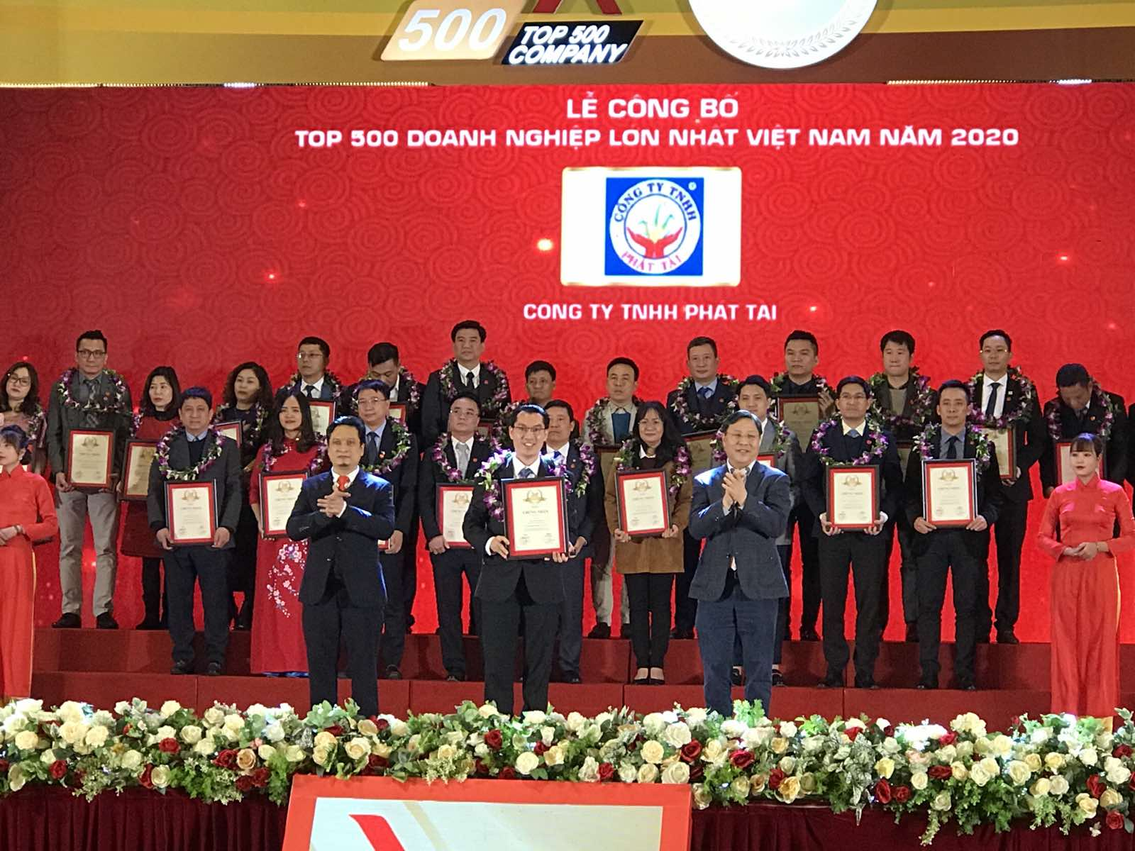 PHAT TAI LIMITED COMPANY IS IN TOP 500 LARGEST ENTERPRISES IN VIETNAM IN 2020